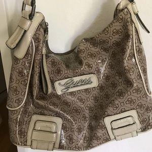 Guess brown & tan purse